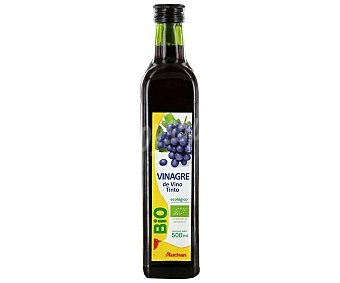 AUCHAN BIO Vinagre de vino tinto ecológico botella de 500 mililitros