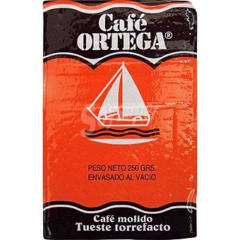 Ortega café torrefacto molido paquete 250 g