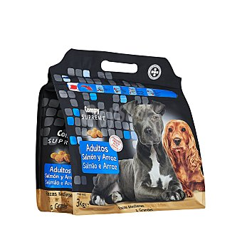 Compy Comida perro seca con salmon fresco y arroz supreme adulto razas medianas y grandes Paquete 3 kg