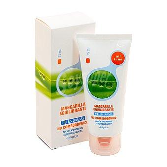 Deliplus Mascarilla facial para pieles grasas Tubo de 75 ml