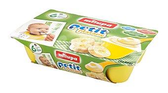 MILUPA Petit Plátano envase 360 g Pack 6 x 60 g