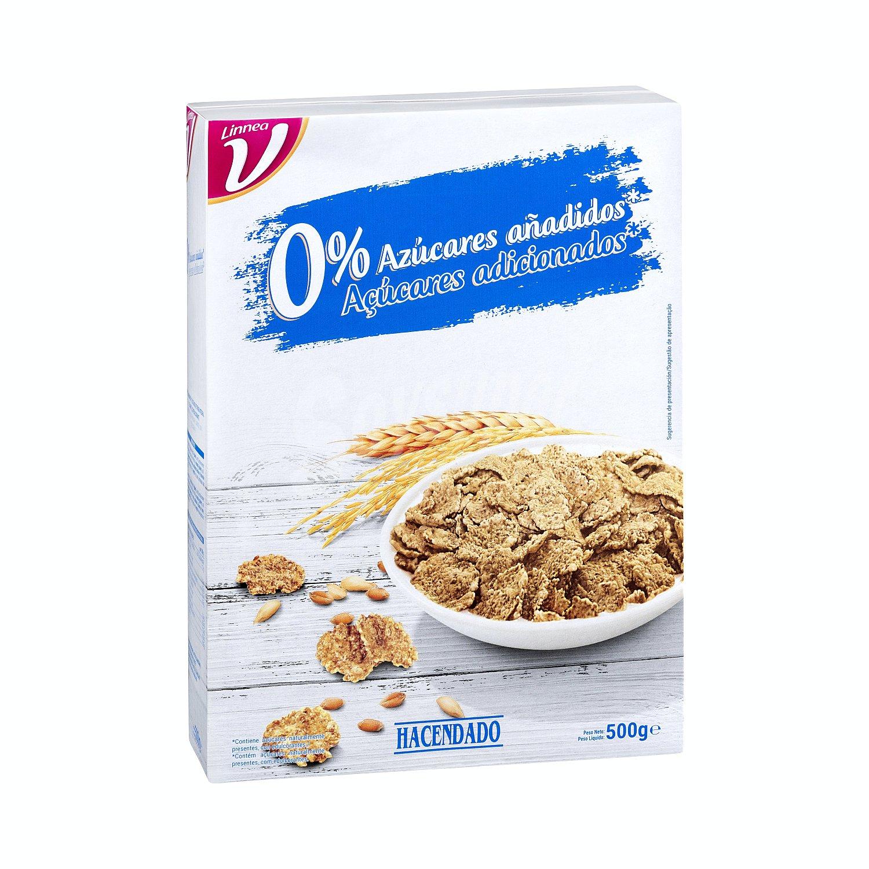 Hacendado Cereal Copos Arroz Trigo Integral 0 Azucares Añadidos Caja 500 G