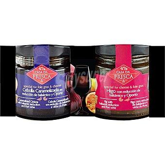 Casa Da Prisca pack especial foie cebolla e higo con queso pack 2 frasco 45 g