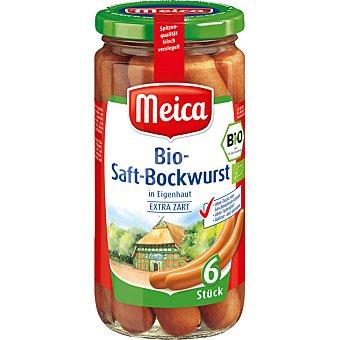 Meica Salchicas ecológicas saft bockwurst 6 unidades frasco 180 g neto escurrido frasco 180 g neto escurrido