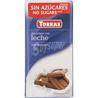 C. TORRAS Chocolate con leche s. azúcar Tableta 75 g