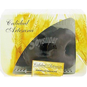 HIPERCOR rosquilla de chocolate producción propia bandeja 210 g 3 unidades