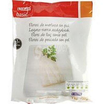 Eroski Basic Filete de merluza sin piel Bolsa 900 g