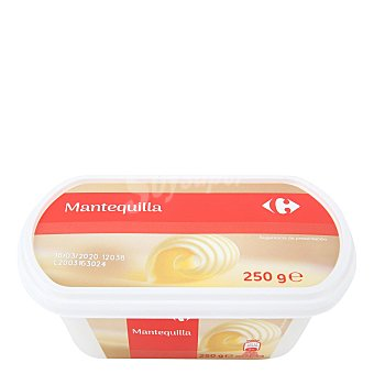 Carrefour Mantequilla tarrina sin sal carrefour 250 g