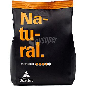 Burdet Café natural en grano aroma intenso 60% arábica y 40% robusta Paquete 500 g