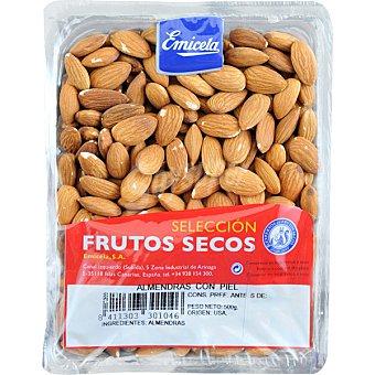 Emicela Almendras crudas con piel Bandeja 500 g