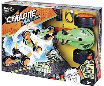 Maisto Cyklone Amphibian, coche radicontrol anfibio, pilas incluidas tech RC