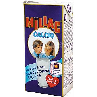 MILLAC Calcio leche entera enriquecida con vitaminas  envase 1 l