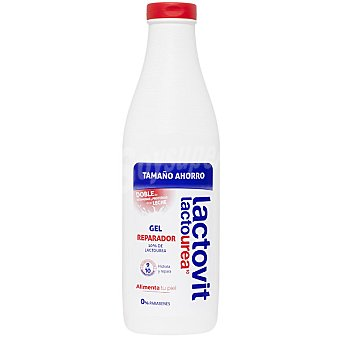 Lactovit Lactourea gel de baño reparador con doble de vitaminas y proteinas de la leche Bote 1 l