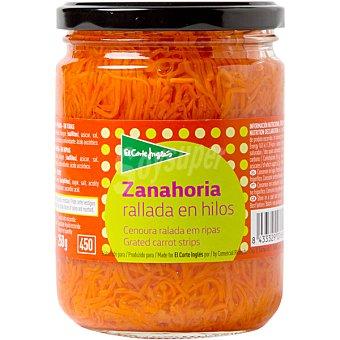 El Corte Inglés zanahoria rallada en hilos frasco 250 g neto escurrido