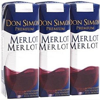 Don Simón Selección vino tinto Merlot Merlot envases 75 cl pack 3x25 cl
