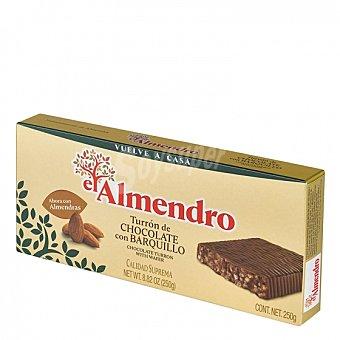 El Almendro Turrón de chocolate con barquillo 250 g