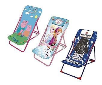 Arditex Tumbona multiposición plegable infántil, asiento y respaldo de pvc, estampados infantiles arditex