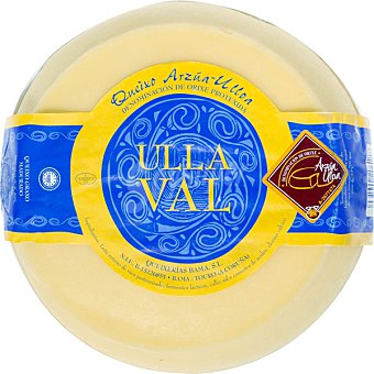 ULLA VAL Queso país D.O. Arzua-Ulloa peso aproximado pieza 2,5 kg