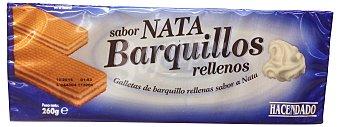 Hacendado Barquillo cuadrado relleno nata Paquete 260 g