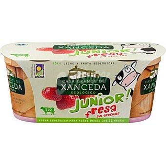 Casa Grande de Xanceda Yogur Junior cremoso con fresa ds. 125 g Pack 2 un