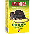 Raticida Cebo fresco ratas y ratones caja 200 g Bloom