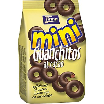 TIRMA Mini Guanchitos Galletitas al cacao cubiertas de chocolate bolsa 125 g Bolsa 125 g