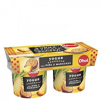 Gourmand Yogur con piña y maracuyá Dhul Pack de 2 unidades de 150 g