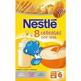 Nestlé Papilla de 8 cereales con miel Caja 600 g + 20%