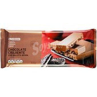Eroski Turrón de chocolate-galleta negra Tableta 100 g