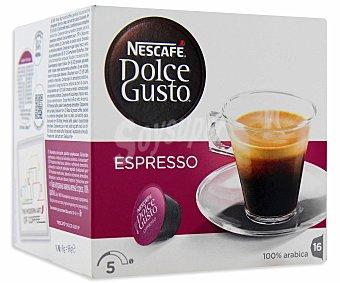 Dolce Gusto Nescafé Café Espresso suave 16 cápsulas (caja 96 g)