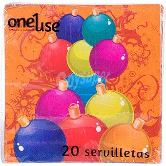 ONEUSE servilletas diseño Felices Fiestas paquete 60 unidades