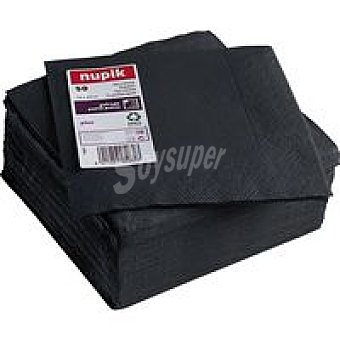 Nupik Servilletas negras 2 capas 33x33 Paquete 50 unid