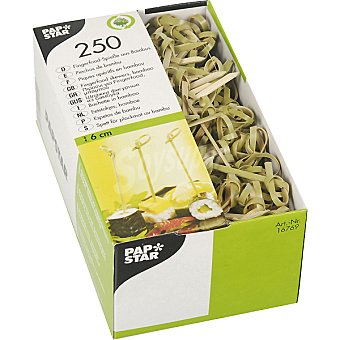 Papstar Pinchos morunos de bambú 6 cm Paquete 250 unidades