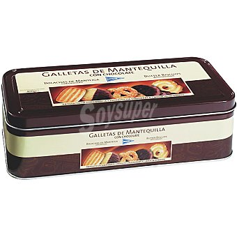 HIPERCOR galletas de mantequilla con chocolate lata 400 g
