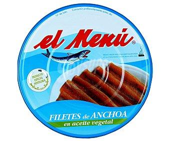 El Menu Filetes de anchoa en aceite vegetal 550 Gramos