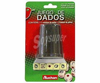 Auchan Juego de mesa dados de póker, desde 2 jugadores 1 unidad