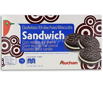 Auchan Galletas sándwich rellenas de crema 176 gramos