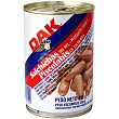 salchichas sin piel Piscolabis producto danés  lata 250 g neto escurrido Dak