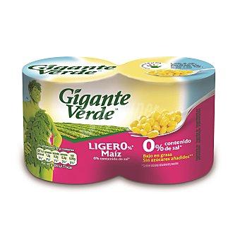 Gigante Verde Maiz ligero 0% sal Pack 2 latas x 140 g