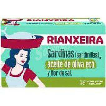 Rianxeira Sardinilla en a. de oliva eco y flor de sal Lata 90 g