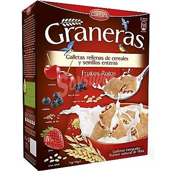 CUETARA GRANERAS Galletas integrales rellenas de cereales semillas enteras y frutos rojos Estuche 330 g