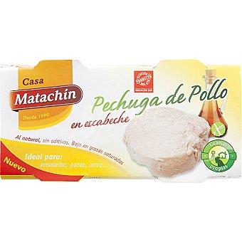 CASA MATACHIN pechuga de pollo en escabeche neto escurrido pack 2 latas 50 g
