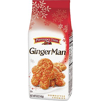 PEPPERIDGE FARM Ginger Man Galletas de jengibre Paquete 155 g