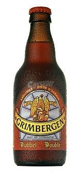 Grimbergen Cerveza de Abadía belga tostada Botella de 33 cl