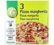 Pizza margarita ultracongelada 3 x 300 g Productos Económicos Alcampo
