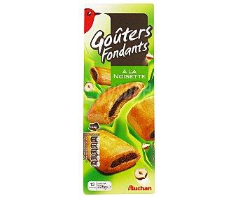 Auchan Galletas rellenas de pasta de avellana y con cacao 225 gr