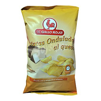 El Gallo Rojo Patatas onduladas al queso 150 g