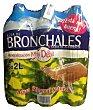 Agua mineral natural de mineralización muy débil 6 botellas de 2 l Bronchales
