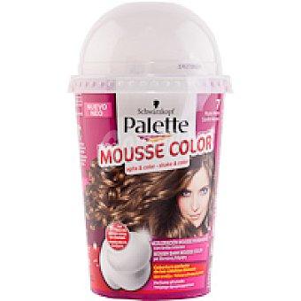 Palette Schwarzkopf Tinte rubio medio Nº7 Mousse Color Caja 1 unid