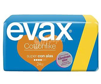 Evax Compresas con alas super cottonlike 20 uds